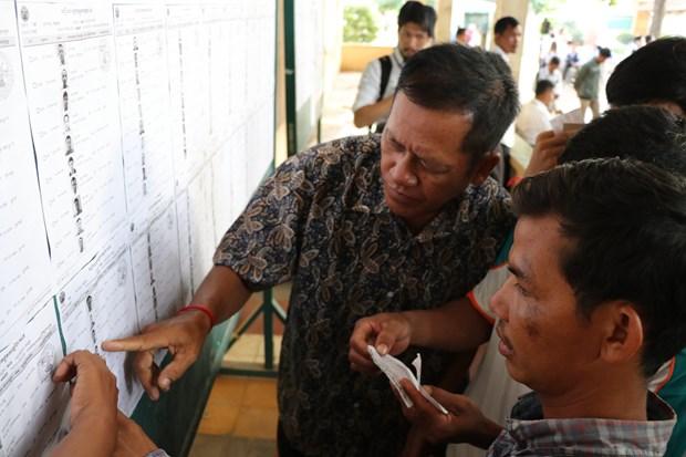 柬埔寨第六届国会选举:人民党获得压倒性票数 hinh anh 1