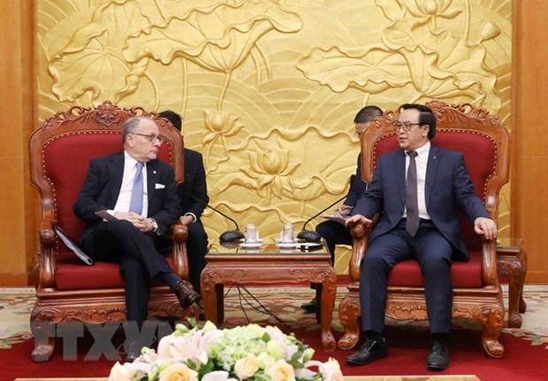 越共中央对外部部长黄平均会见阿根廷外交和宗教事务部部长豪尔赫 hinh anh 1