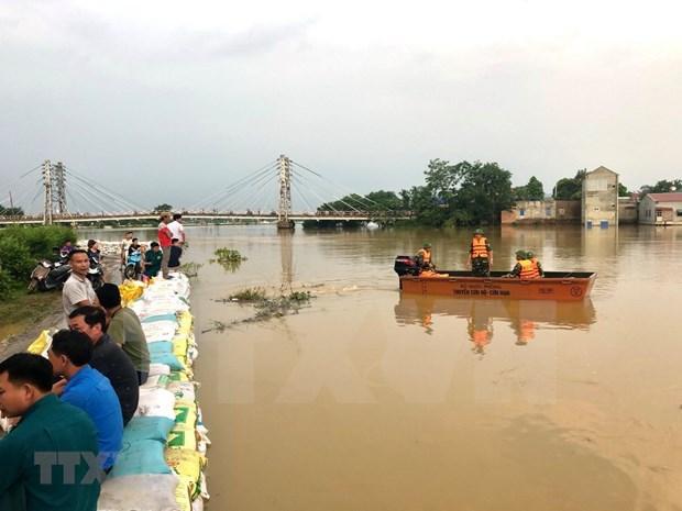河内市主动应对暴雨洪涝灾害和突发紧急情况 hinh anh 1