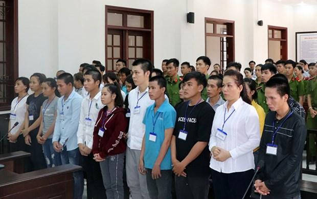 同奈省以聚众扰乱社会秩序罪名对20名嫌疑人进行起诉 hinh anh 1