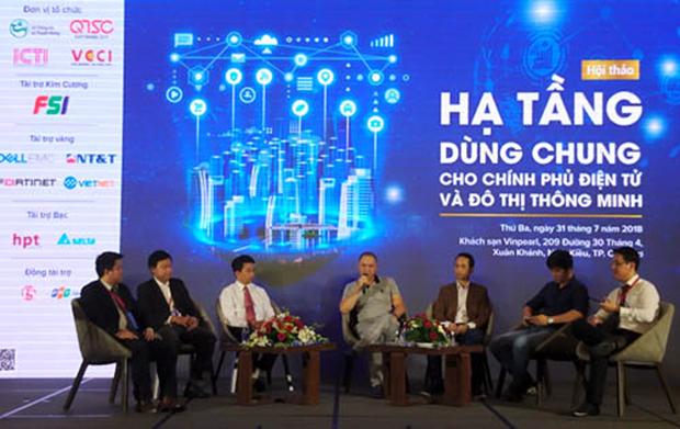 """""""电子政务及智慧城市共用设施""""研讨会在芹苴市举行 hinh anh 1"""