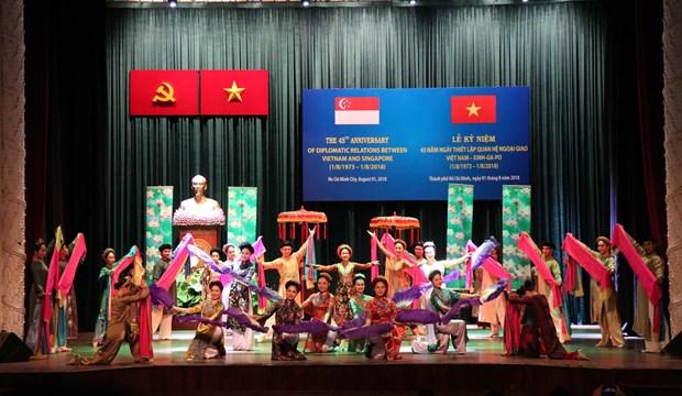 越南与新加坡纪念两国建交45周年 hinh anh 1