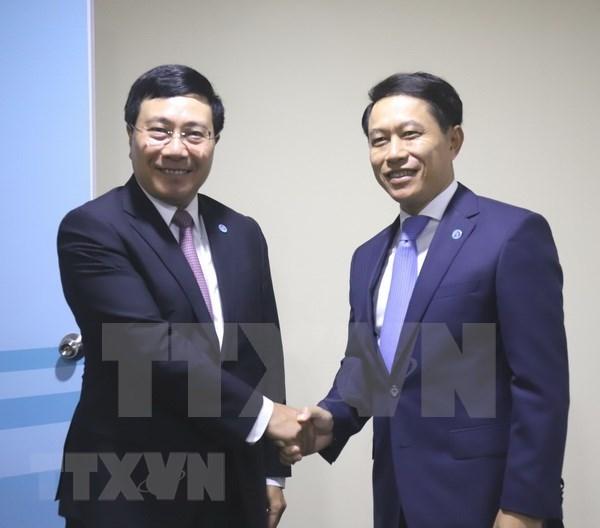 范平明在AMM-51期间密集与各国外长举行双边会晤 hinh anh 2