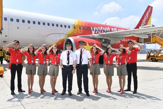 今年上半年越捷航空公司营业额猛增 hinh anh 1