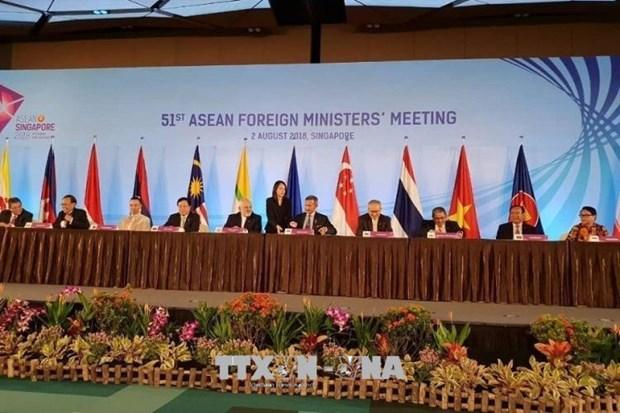 第51届东盟外长会议:东盟增强内部经济实力和地区互联互通 hinh anh 1