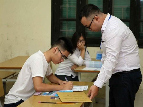 和平省2018年国家高中毕业和大学入学统一考试成绩中违法行为遭起诉 hinh anh 1