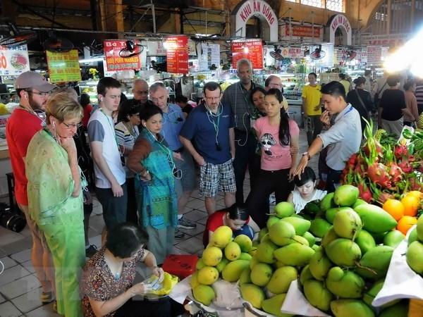 今年前7月胡志明市接待国际游客量440万人次 hinh anh 1