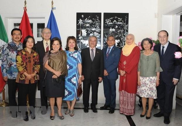 越南驻墨西哥大使馆举行越南加入东盟23周年纪念活动 hinh anh 1
