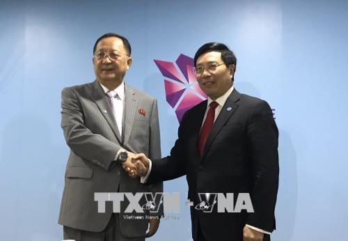 第51届东盟外长会议:朝鲜外长希望越朝两国关系将提升到新高度 hinh anh 1