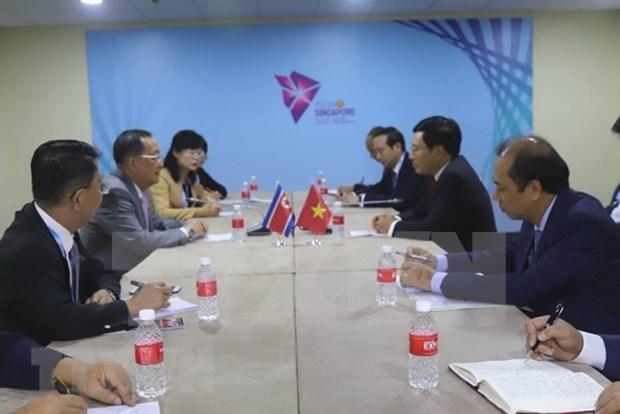 政府副总理兼外交部长范平明会见朝鲜外交部长李勇浩 hinh anh 2