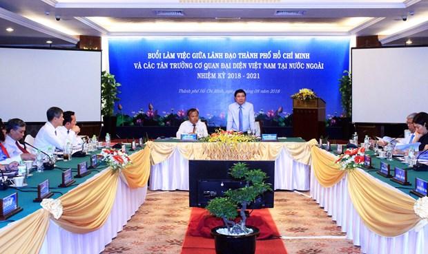 越南驻外代表机构为推动胡志明市与世界各地的合作关系做出积极贡献 hinh anh 1