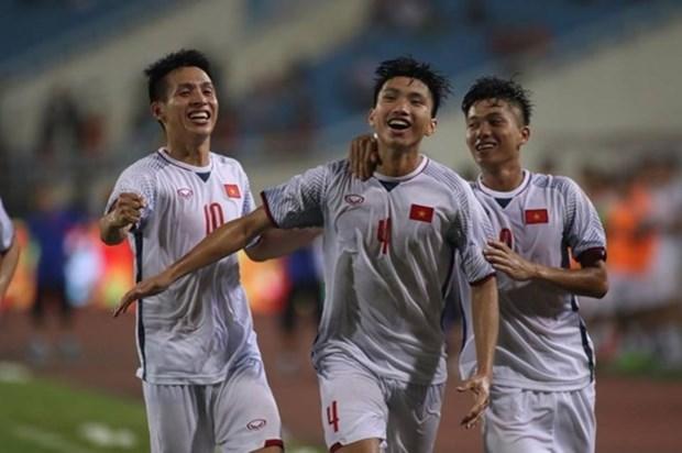 越南U23队1-0阿曼U23队:后卫文厚再现世界级进球 hinh anh 1