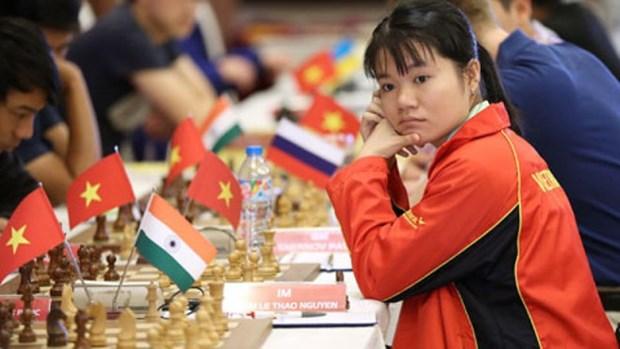 越南女子国际象棋队在2018年亚洲国际象棋团体锦标赛上夺得银牌 hinh anh 1