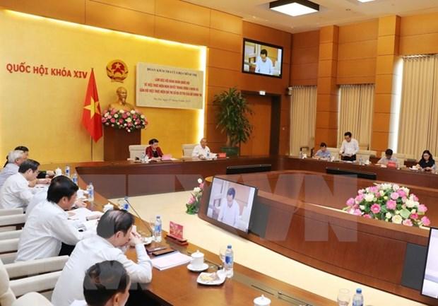 越共中央检查团与国会党团举行工作会谈 hinh anh 1