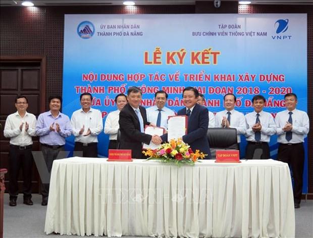 岘港市与邮政电信集团合作将该市建设成为智慧城市 hinh anh 1