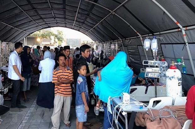 印度尼西亚龙目岛强震:伤亡人数已增至360人 hinh anh 1