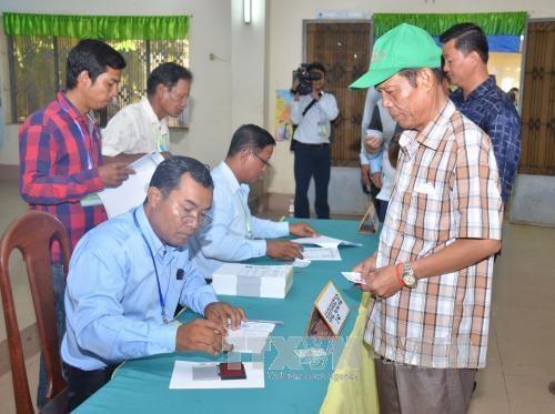 柬埔寨第6届国会选举验票工作结束 hinh anh 1