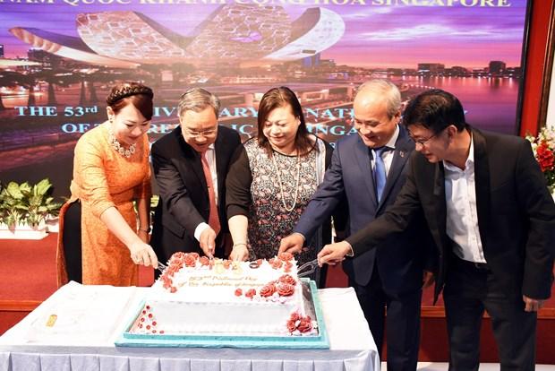 新加坡53周年国庆见面会在胡志明市举行 hinh anh 1