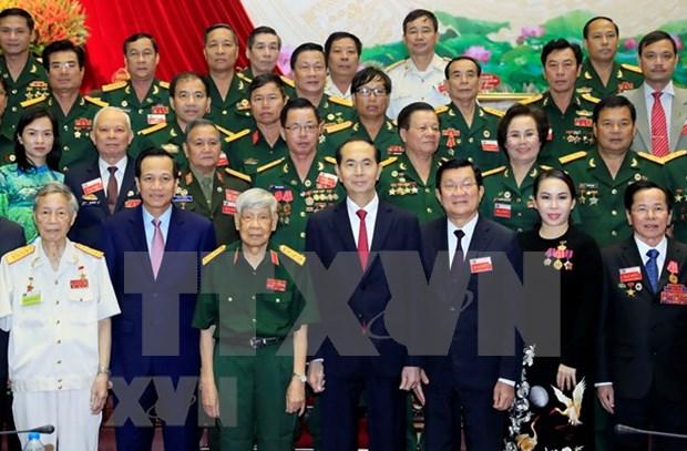国家主席陈大光:老兵企业家积极发展经济社会 hinh anh 1