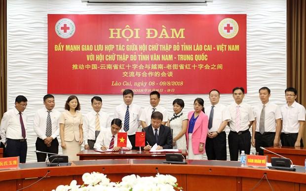 越南老街省与中国云南省建立友好合作关系架起人道领域桥梁 hinh anh 1