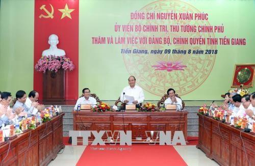 政府总理阮春福:前江省力应在高科技农业等5大支柱上实现发展 hinh anh 1