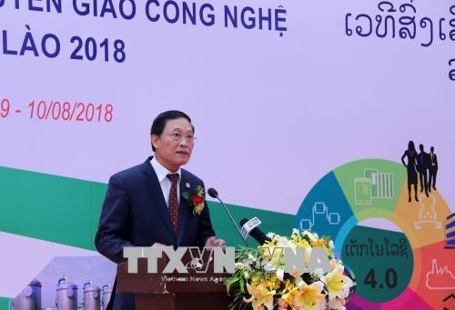 2018年越老技术转让促进论坛在老挝开幕 hinh anh 2