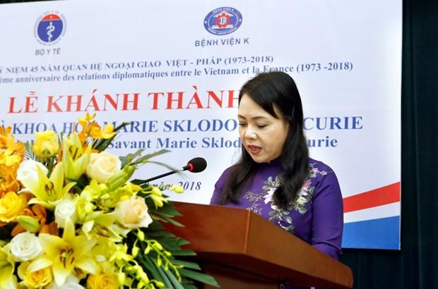越南中央K医院的玛丽亚·居里塑像正式竣工 hinh anh 1
