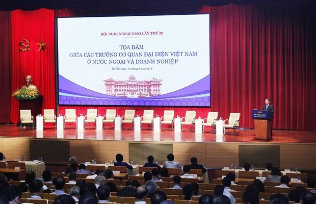 越南副外长裴青山:让越南驻外代表机构和企业界成为彼此的可靠战略伙伴 hinh anh 2