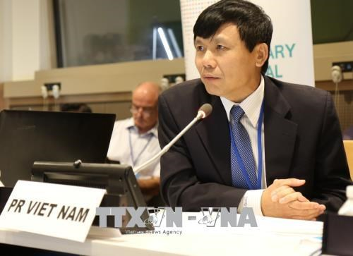 越南驻联合国代表团团长邓廷贵大使:越南积极主动参与联合国事务 hinh anh 1