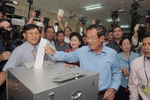 越共中央总书记阮富仲致电祝贺柬埔寨第六届国会选举顺利成功举行 hinh anh 1