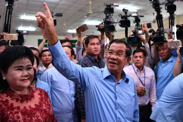 柬埔寨公布2018年第六届大选投票初步统计结果 hinh anh 1