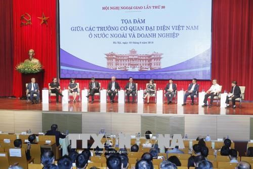 越南外交:主动、创新、有效 胜利实现越共十二大决议 hinh anh 1
