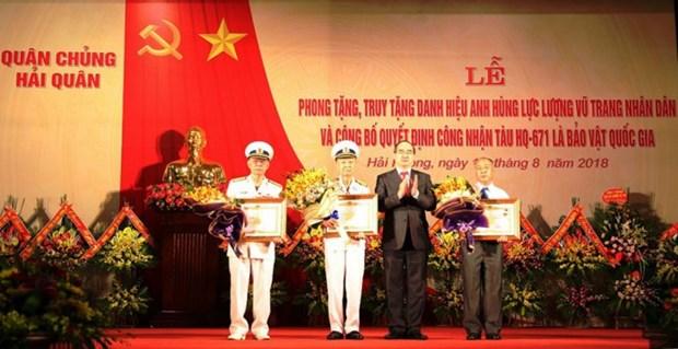 HQ-671号军事运输船被列入国宝名单 hinh anh 1