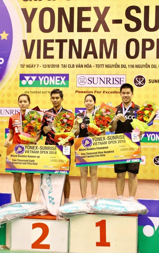 2018年越南国际羽毛球公开赛落下帷幕 hinh anh 2