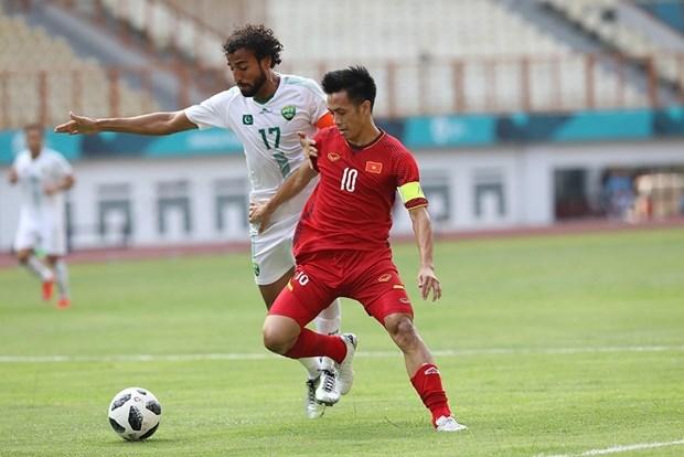 ASIAD 2018:男足小组赛越南3比0击败巴基斯坦 取得开门红 hinh anh 1