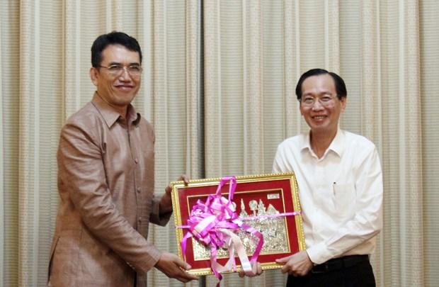 胡志明市领导会见老挝科学技术部干部代表团 hinh anh 2
