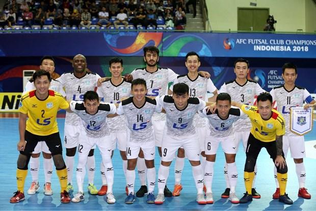 越南泰山南在AFC Futsal俱乐部锦标赛夺季军回国受到热烈欢迎 hinh anh 2