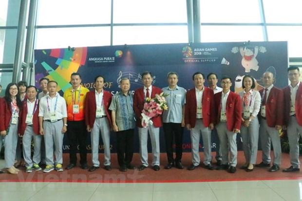 2018年亚洲运动会:越南体育代表团受到东道国的热情接待 hinh anh 1