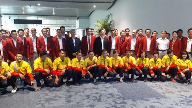 2018年亚洲运动会:越南体育代表团受到东道国的热情接待 hinh anh 2