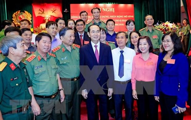 越南公安力量高度重视全国保卫祖国安全运动中先进典型的学习宣传工作 hinh anh 1