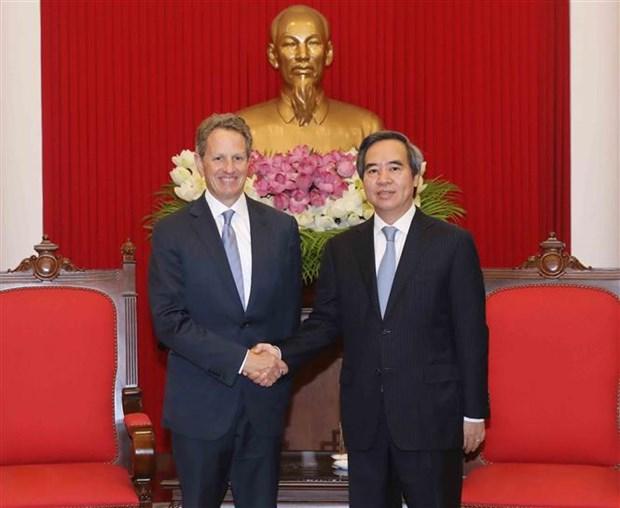 越共中央经济部部长阮文平会见澳大利亚和美国客人 hinh anh 2