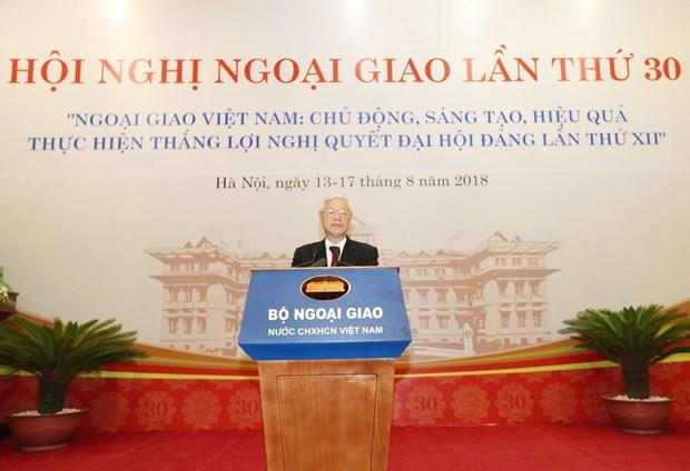 第30届外交会议:加强国内企业与国际合作伙伴的互联互通 hinh anh 1