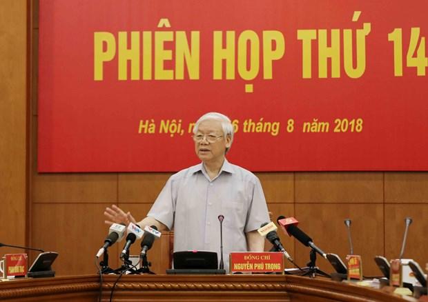 越共中央反腐败指导委员会第14次会议今日召开 hinh anh 1