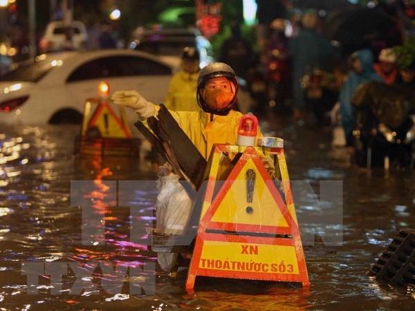 越南加强第四号台风应急防范工作检查力度 hinh anh 1