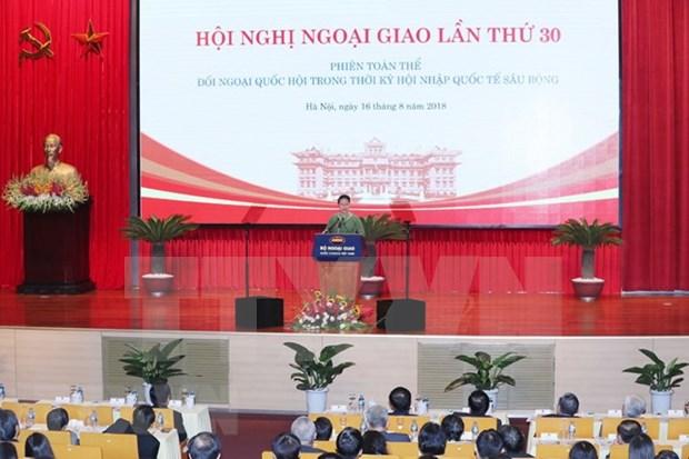 第30届外交会议:国会外交为提高越南在国际舞台上的地位做出了切实贡献 hinh anh 2