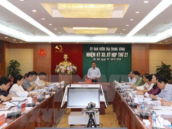 7月份越共中央检查委员会对283名党员给予纪律处分 hinh anh 1