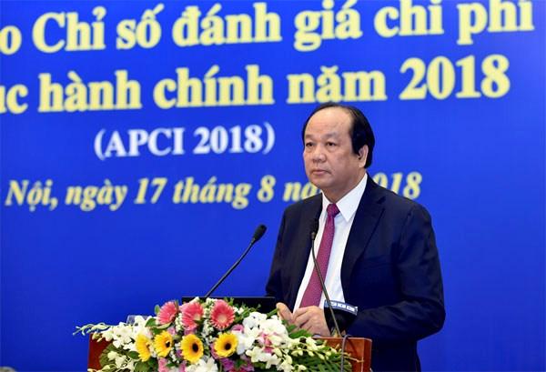 2018年行政手续办理费用评价指数报告正式发布 hinh anh 2
