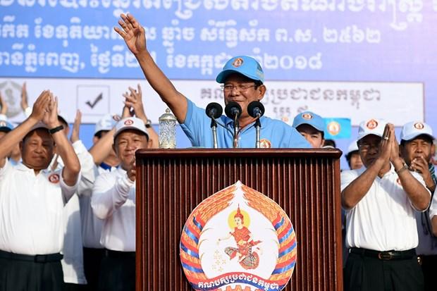 洪森再任柬埔寨政府首相 hinh anh 1