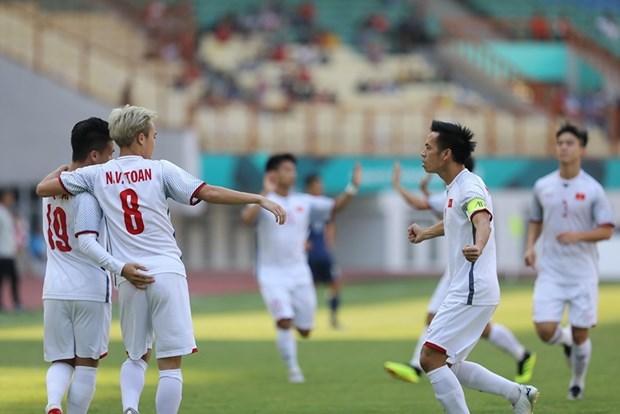 ASIAD 2018: 越南队1:0击败了日本队 位居D组第一 hinh anh 1