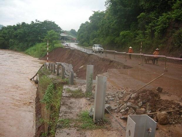 北部各省开展第四号台风灾后恢复重建工作 hinh anh 1